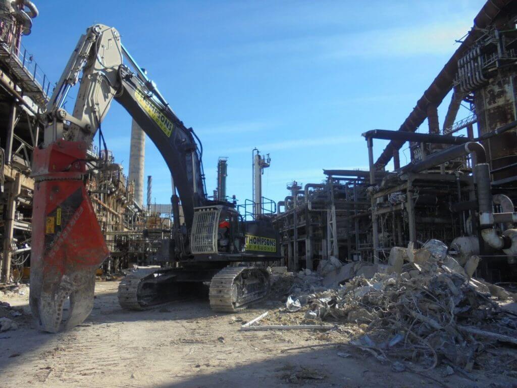 Industrial Demolition Site