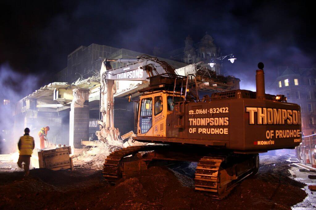 Thompsons of Prudhoe Demolition Machine